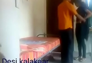 Hindi boy fucked girl helter-skelter his house and someone record their fucking video mms