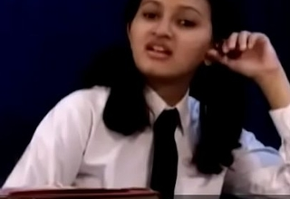 Teen indian school ungentlemanly removing her school threads Affixing 1- pornvala.com