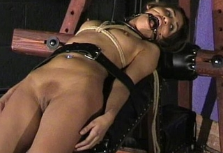 Sahara Knite demeaning face bondage and spanked indian bdsm slave in harsh